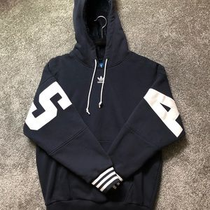 navy blue adidas hoodie